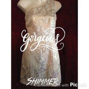 """Shimmering Moon Over Miami "" one shoulder dress!!"